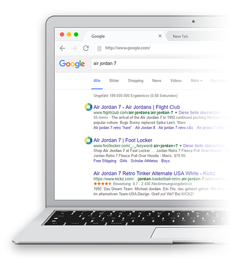 Search Google for brands and products